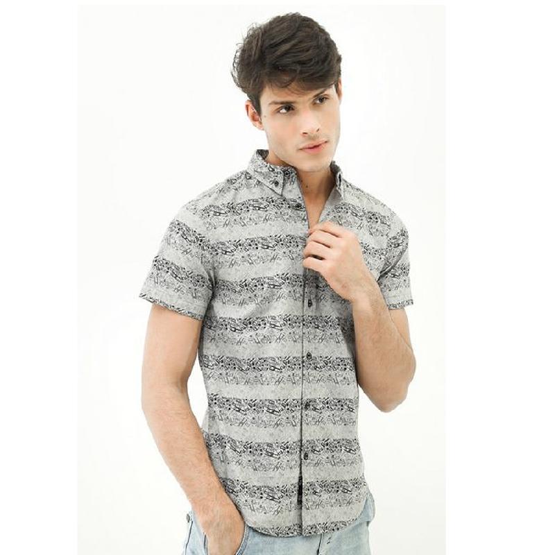 3second Men Shirt 1604 Grey
