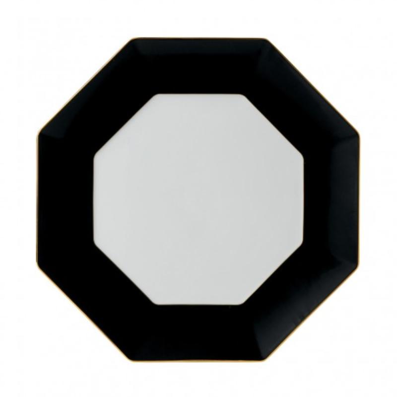 Arris - Octagonal Charger Charcoal 33cm