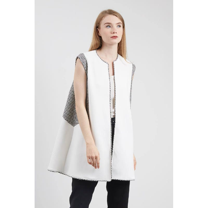 Siera Boxy Vest White