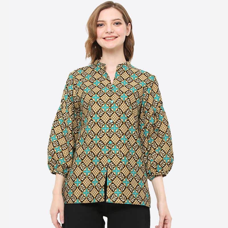 Anakara Mandarin Collar Classic Essensia Multicolor