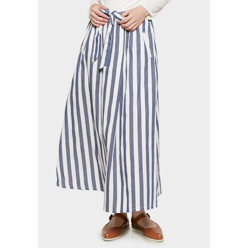 Graphis Maxi Skirt Stripe Navy