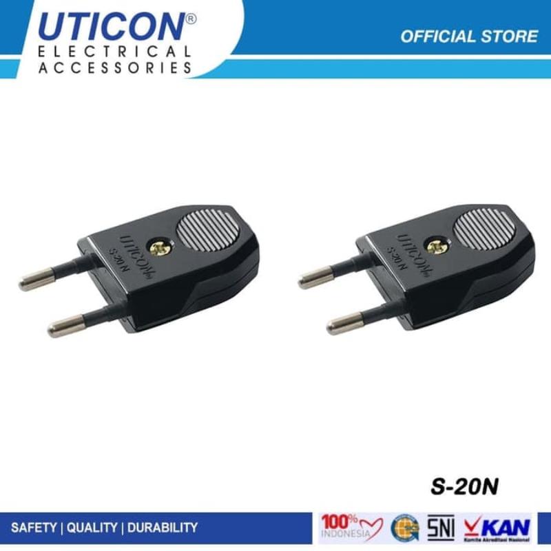 Uticon S-20N Hitam (B) Steker Pin Kuningan 2 Pcs