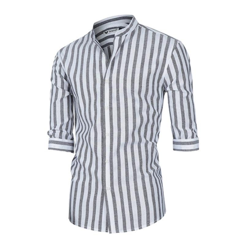 Big Stripe Shirt - Grey