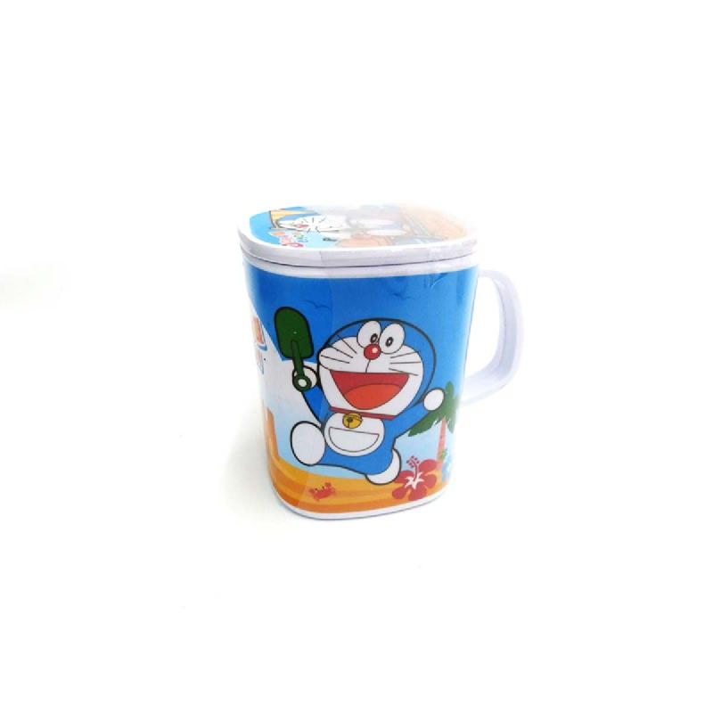 Vanda Mug Segi Dengan Tutup 3 Inch Corak Doraemon Summer