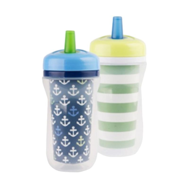 The First Years Y6309A2 Super Chill Sippy Insulate Straw Peralatan Makan Anak - Blue Green [9oz] -