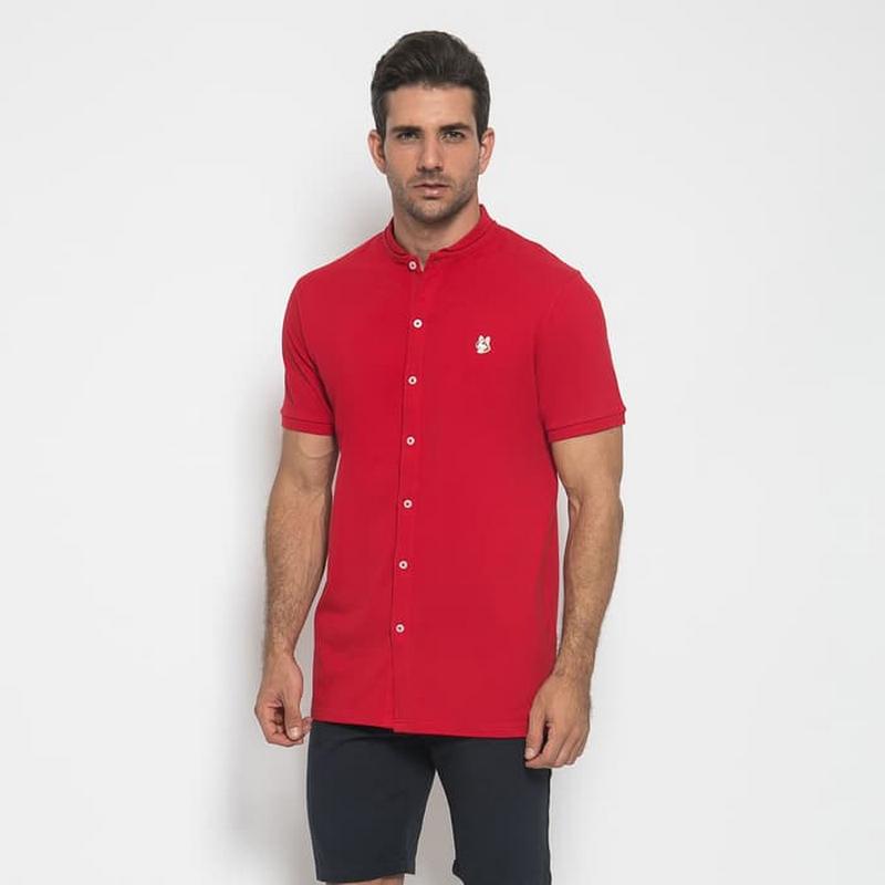 Mon Akita Men Shirt Thimeo Red