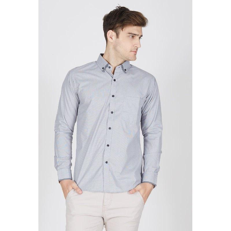 Men Night Tux Tshirt LS Grey