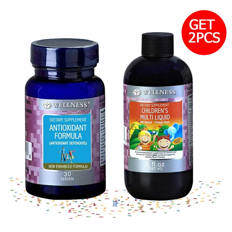 Antioxidant Defenders Formula - 30 Tablets + Childrens Multi Liquid - 240ml