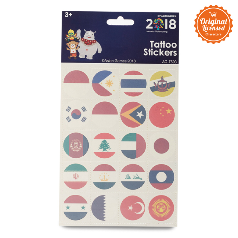 Asian Games Tattoo Sticker AG-TS003