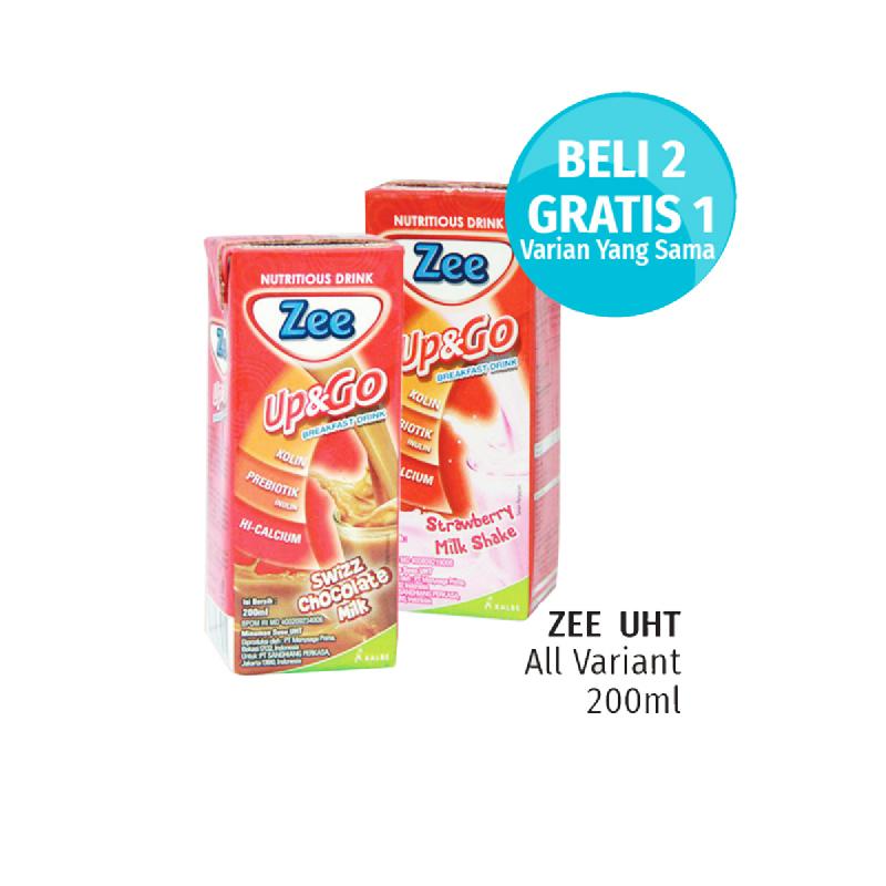 Zee Up&Go Swiss Strawberry Milk Tp 200Ml (Buy 2 Get 1)