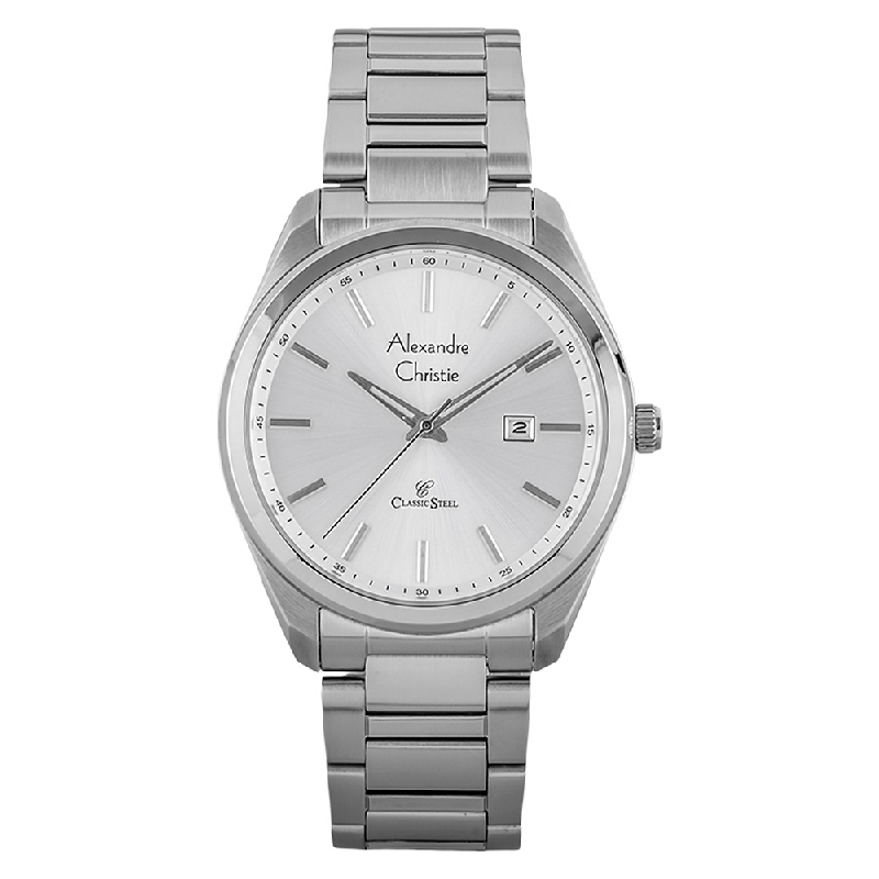 Alexandre Christie AC 8591 MD BSSSL Man White Dial Stainless Steel