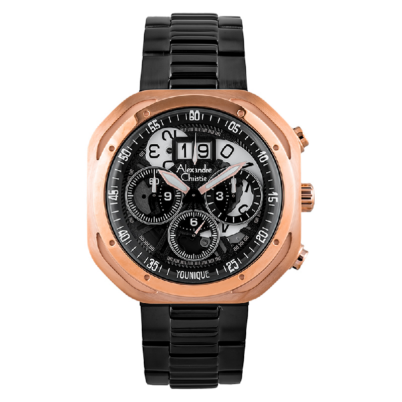 Alexandre Christie AC 6468 MC BBRBA Younique Man Chronograph Skeleton Dial Stainless Steel