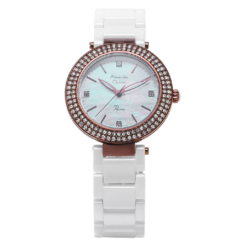 Alexandre Christie AC 2323 LH BIUMS Ladies Mother of Pearl Dial Stainless Steel