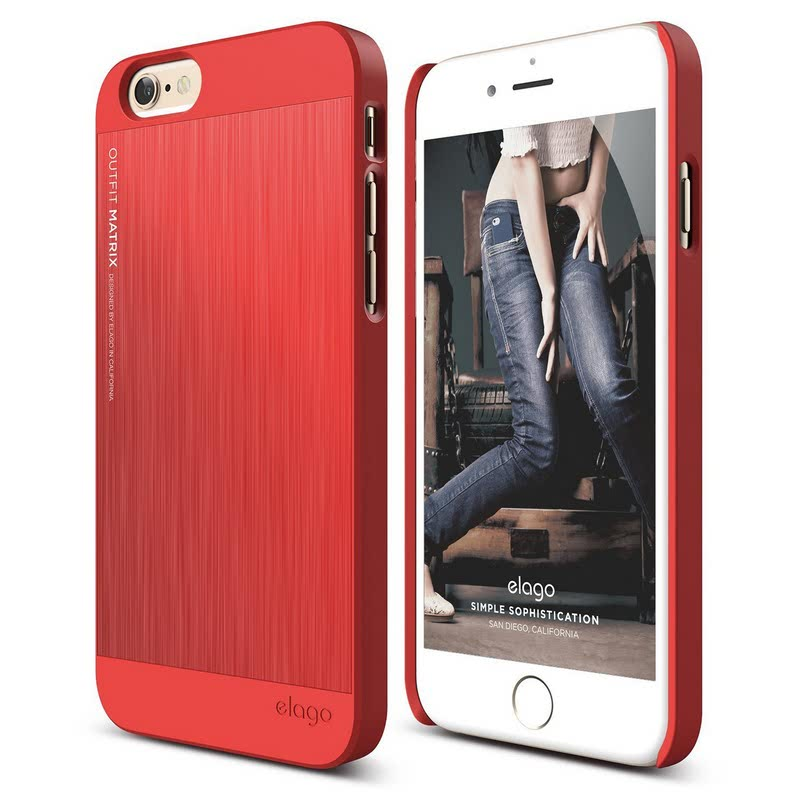 Elago Outfit Matrix Case for iPhone 6 Plus - Extreme Red + Extreme Red