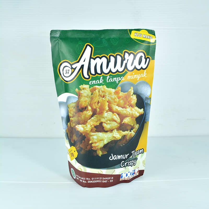 Amura Jamur Crispy Jagung Bakar 100 gr (isi 2 pack)