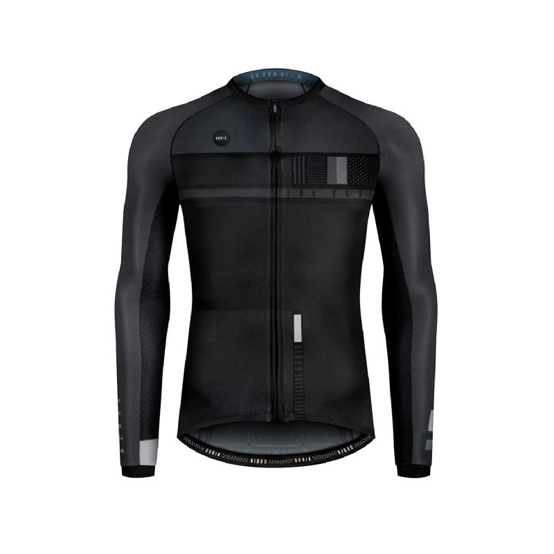 Gobik CX Pro Black Steel Long Sleeve Jersey