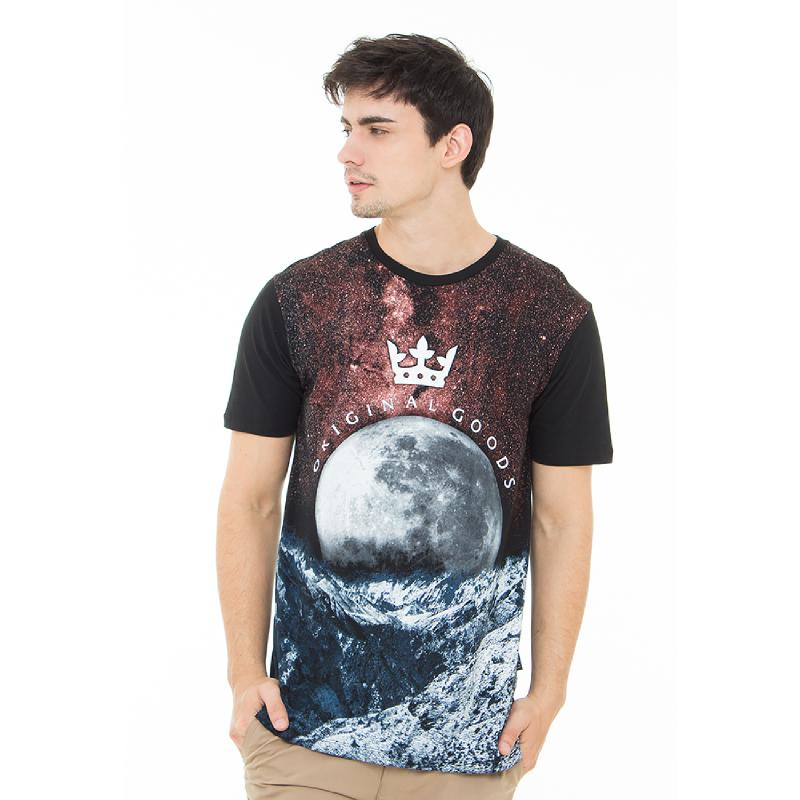 17Seven Alkasian Newest Men Tshirt Black