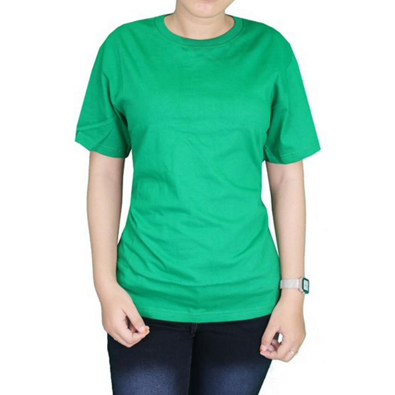 Gudang Fashion Kaos Pendek Wanita Pendek Cotton Combed S20 Hijau Fuji