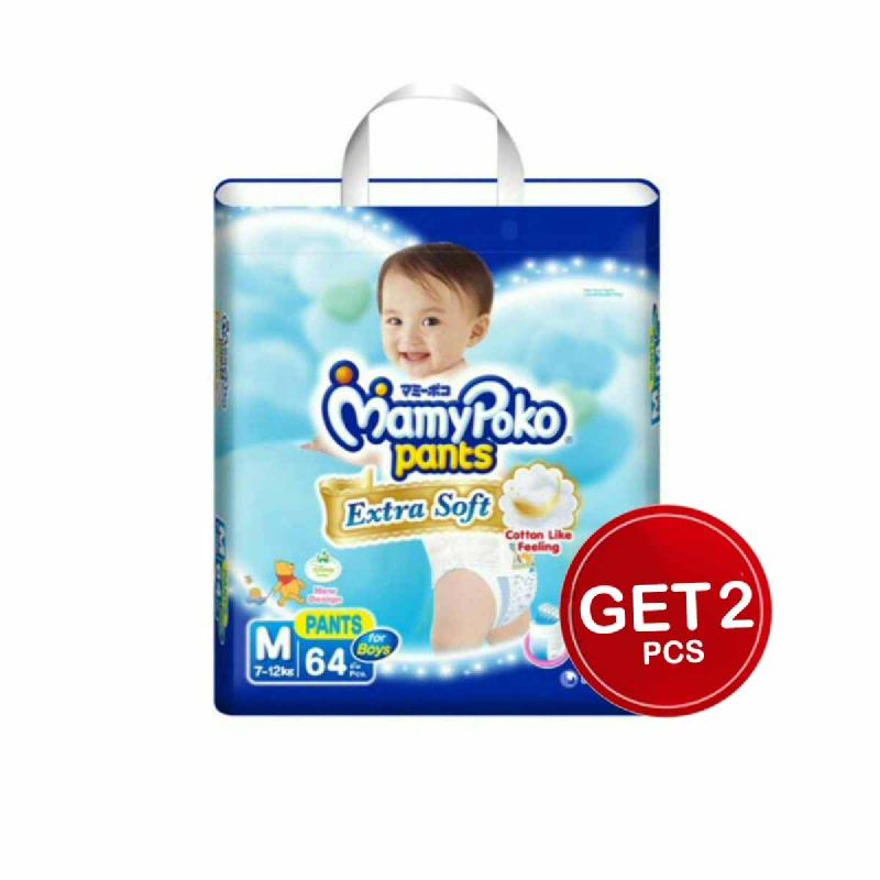 Mamypoko Popok Celana Extra Soft M Boy 64S (Get 2)