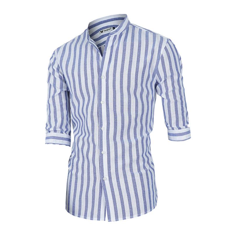 Big Stripe Shirt - Sky