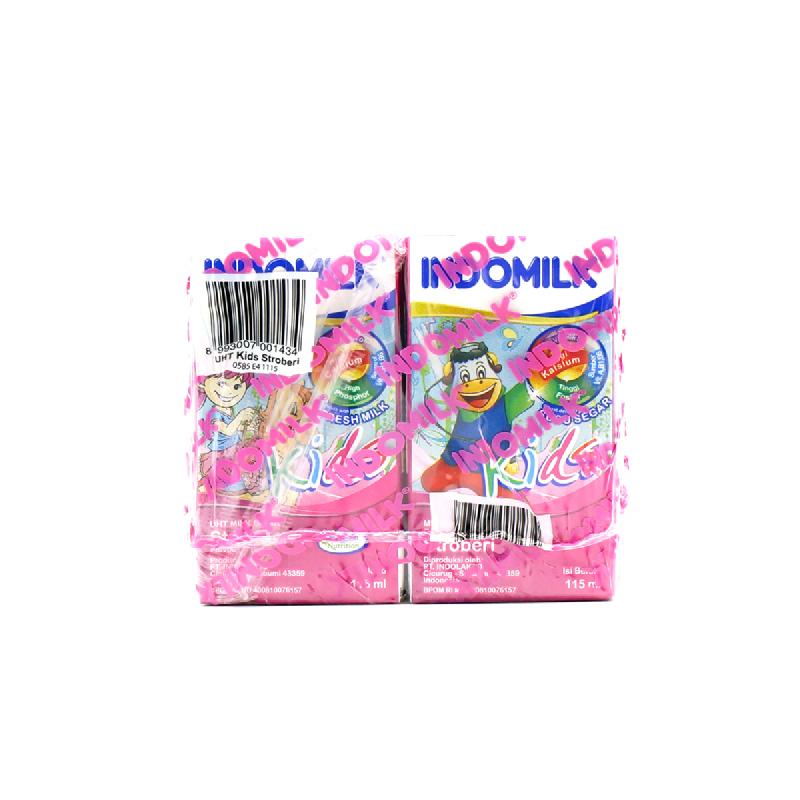Indomilk Uht Kids Strawberry Multipack 4 X 115 Ml