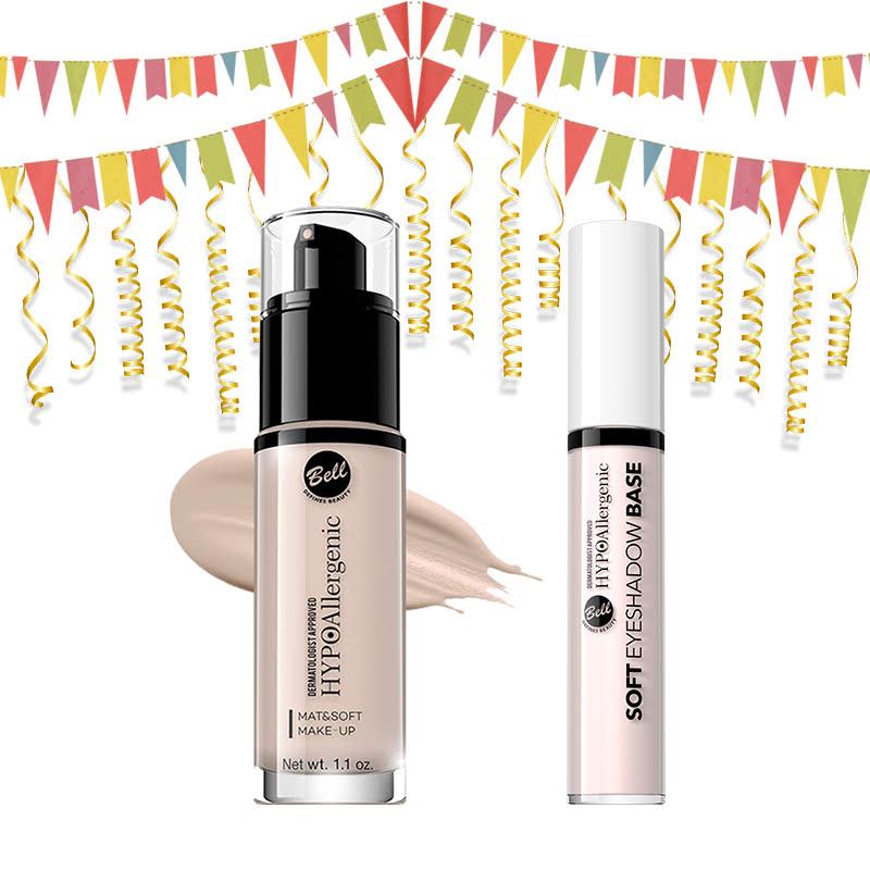 Bell Hypoallergenic Mat&Soft Make-Up 00 Alabaster & Bell Hypoallergernic Soft Eyeshadow Base