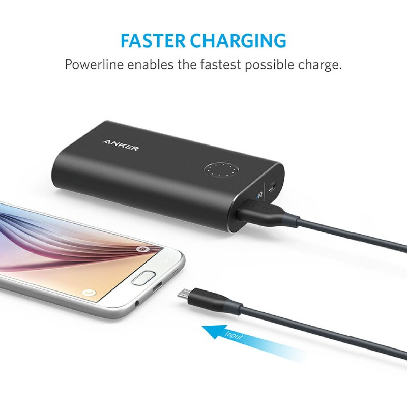 Anker USB PowerLine Micro USB 6ft A8133H11 Abu