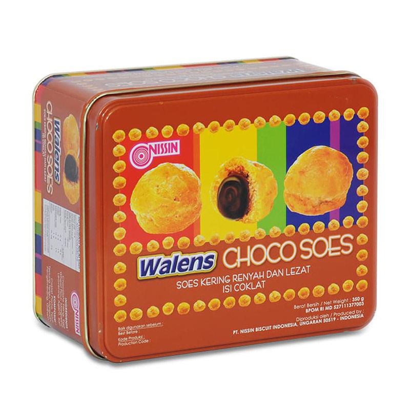 Nissin Wallens Choco Soes 350 gr (Kemasan Kaleng)