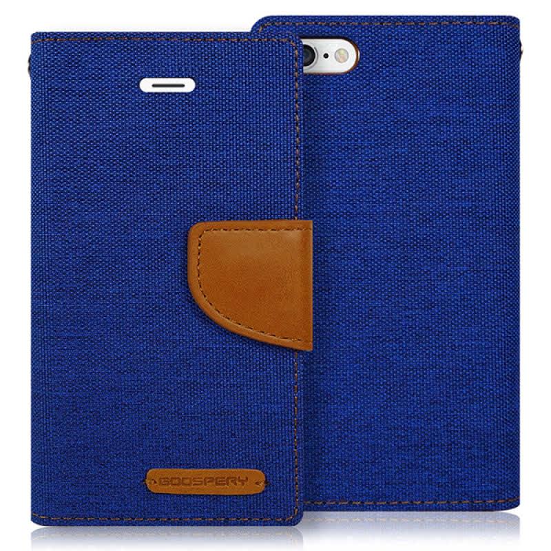 Goospery Canvas Diary for iPhone 6 - Biru
