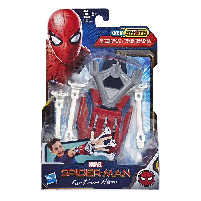 Spider-Man Web Shots Scatterblast Blaster Toy for Kids Ages 5 & Up