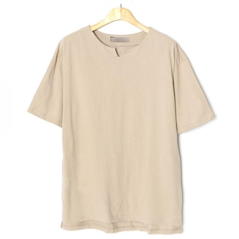 V-Cut Boat Neck Short Sleeve T-shirt BG