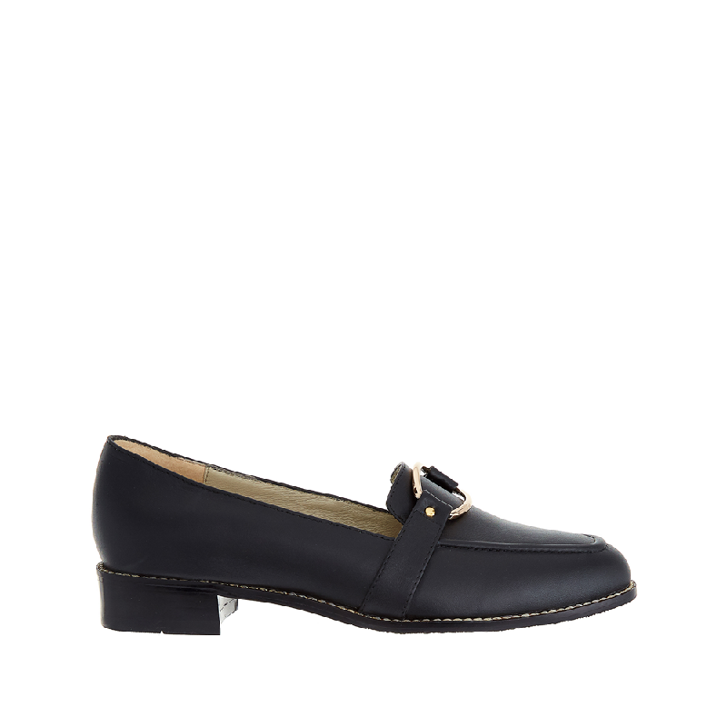 Andre Valentino Sally Flat Shoes Black
