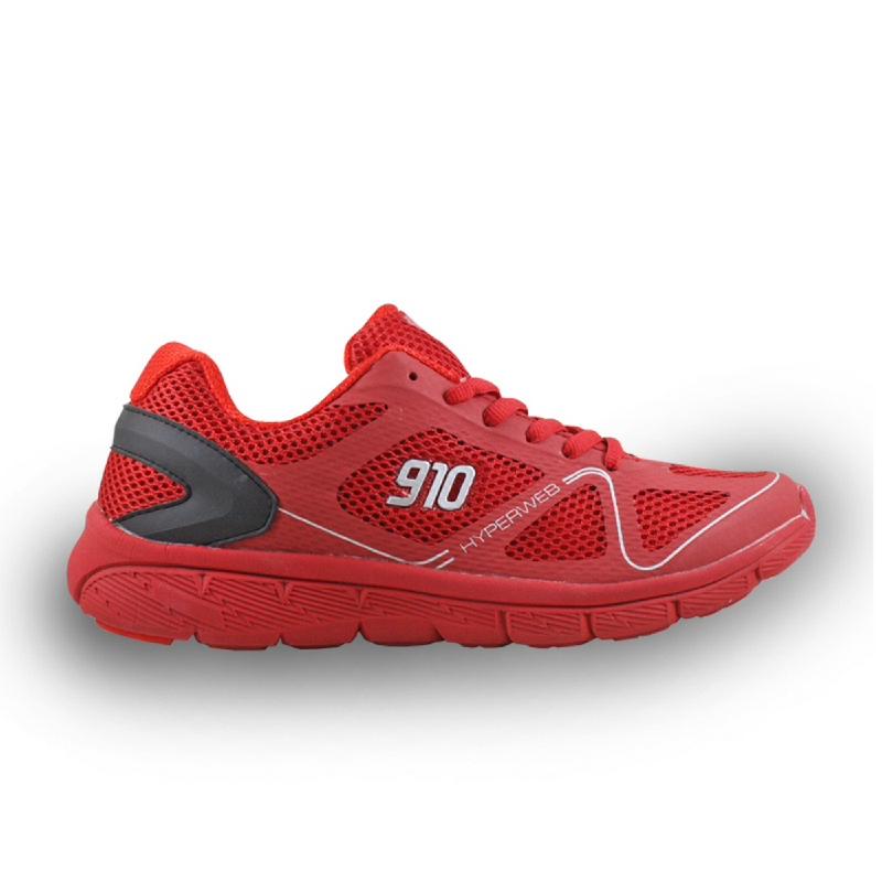 910 NINETEN Agito Sepatu Olahraga Lari Unisex - Merah Silver