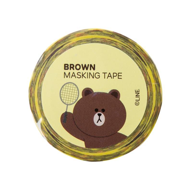 Pattern Masking Tape - Brown