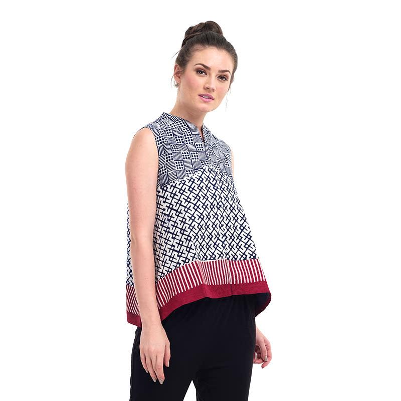 Batik Chic Blouse A Combination