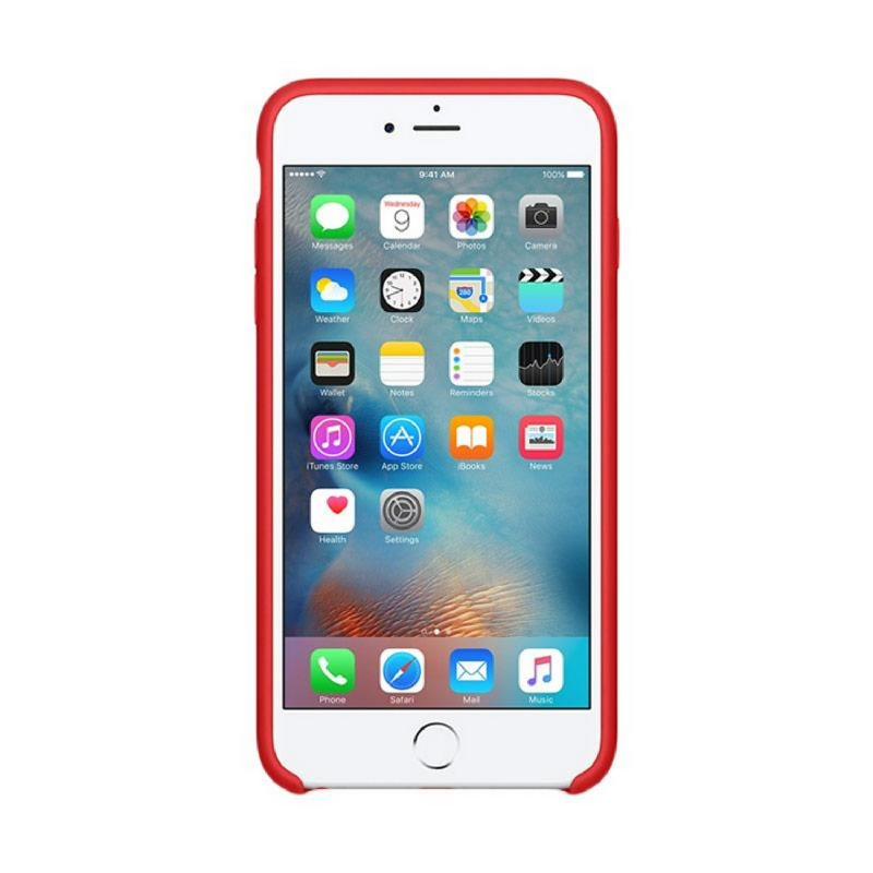 Apple Original iPhone 6S Plus - 6 Plus Silicone Case Premium Red