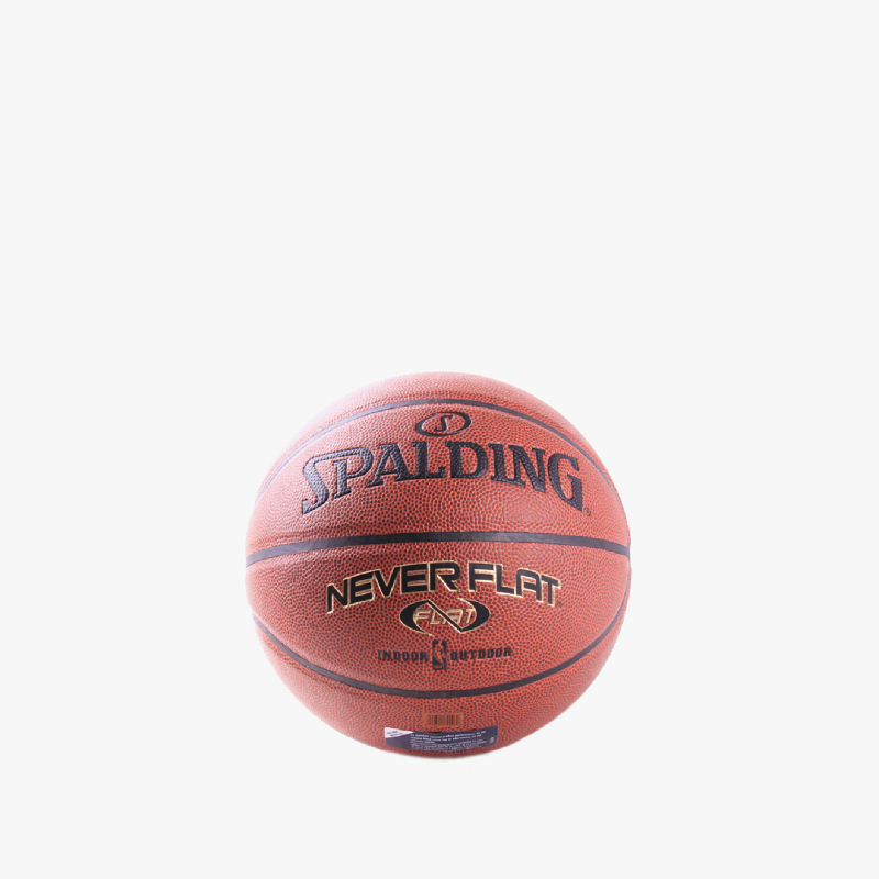 Spalding Neverflat Comp With Packer Basketball Brown