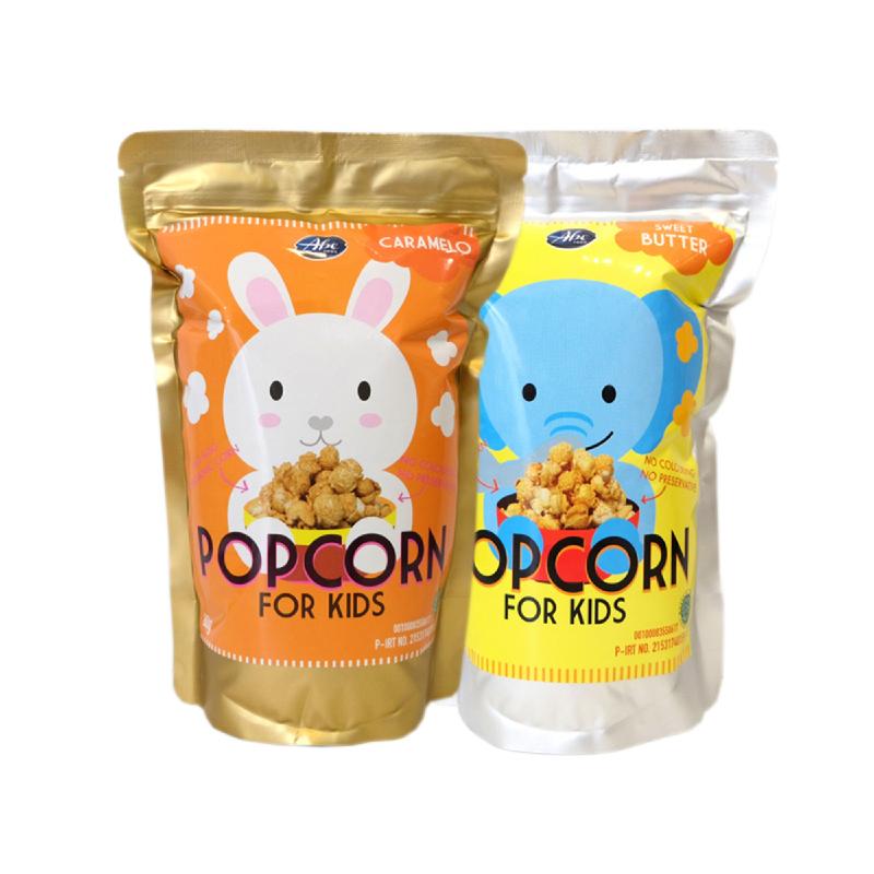 Abefood Caramelo Pop Corn For Kids + Abefood Sweet Butter Pop Corn For Kids