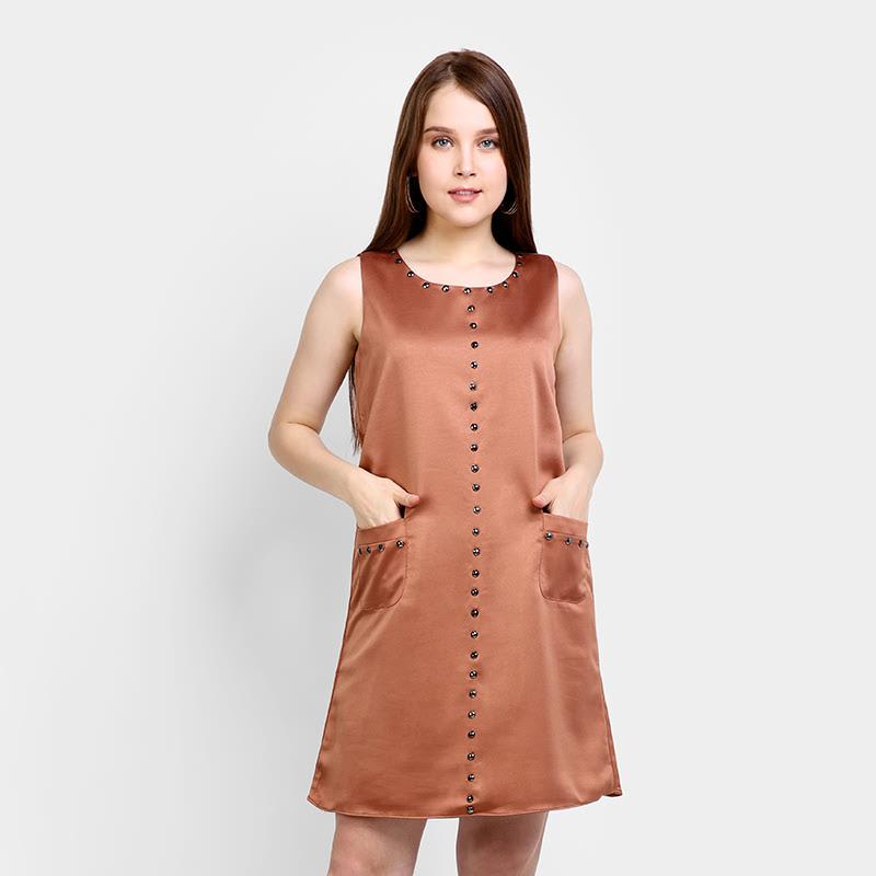 Elle EL-16-88385 Brown Dress