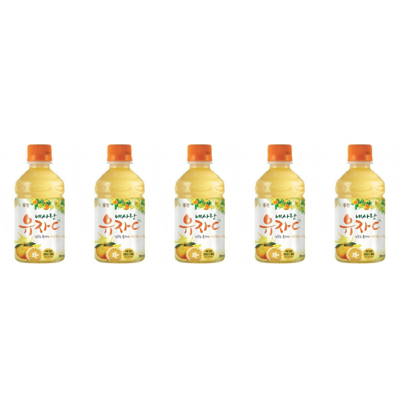 Woongjin - Ne Sarang Yuja 280 ml 5 Pcs