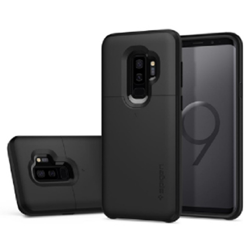 Spigen Galaxy S9+ Case Slim Armor Card Slider - Black