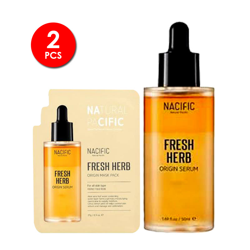 Nacific Fresh Herb Origin Serum 50ml + Mask Pack 27g
