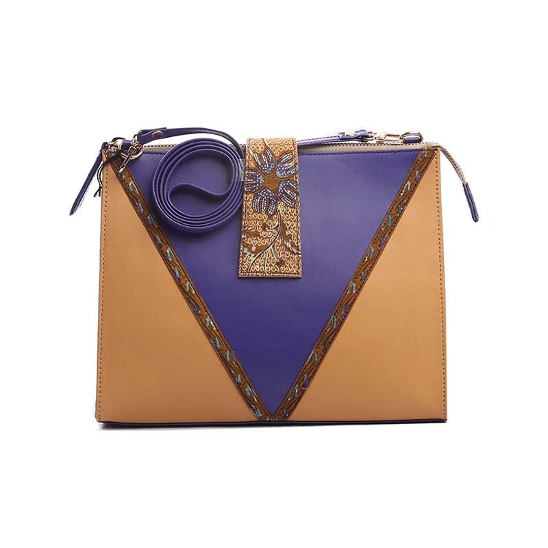 Warnatasku Shoulder Bag WT180204 Coklat Biru