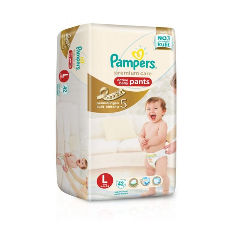 Pampers Premium Active Baby Diaper Pants Jumbo L 42S