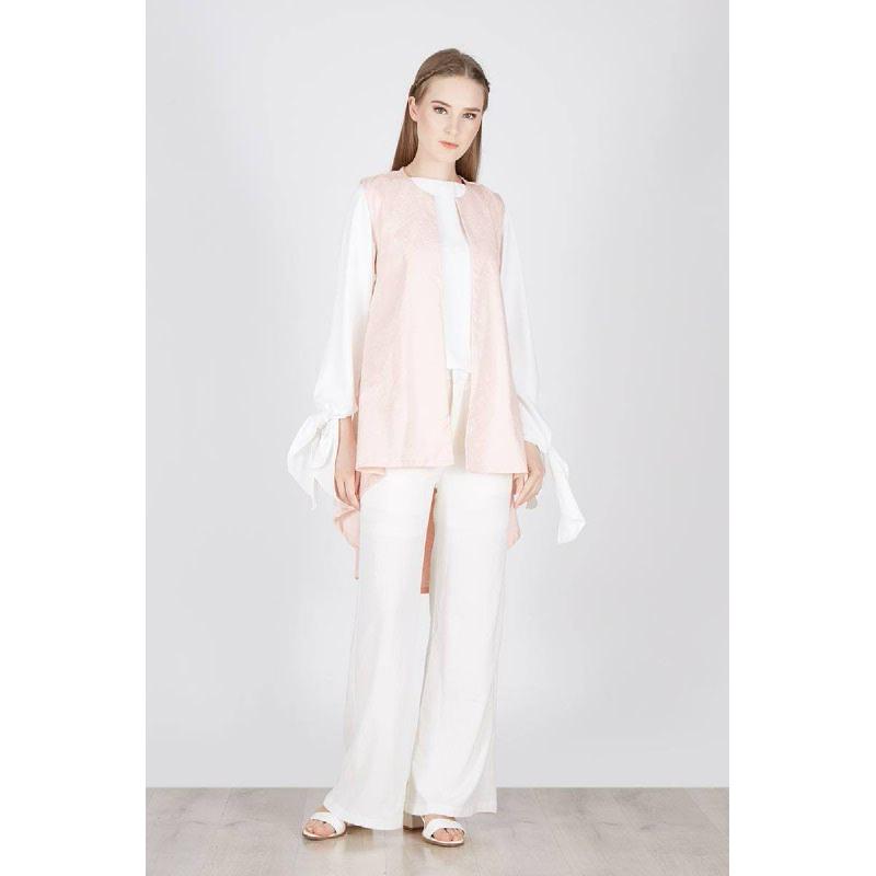 Rayne Long Vest Pink