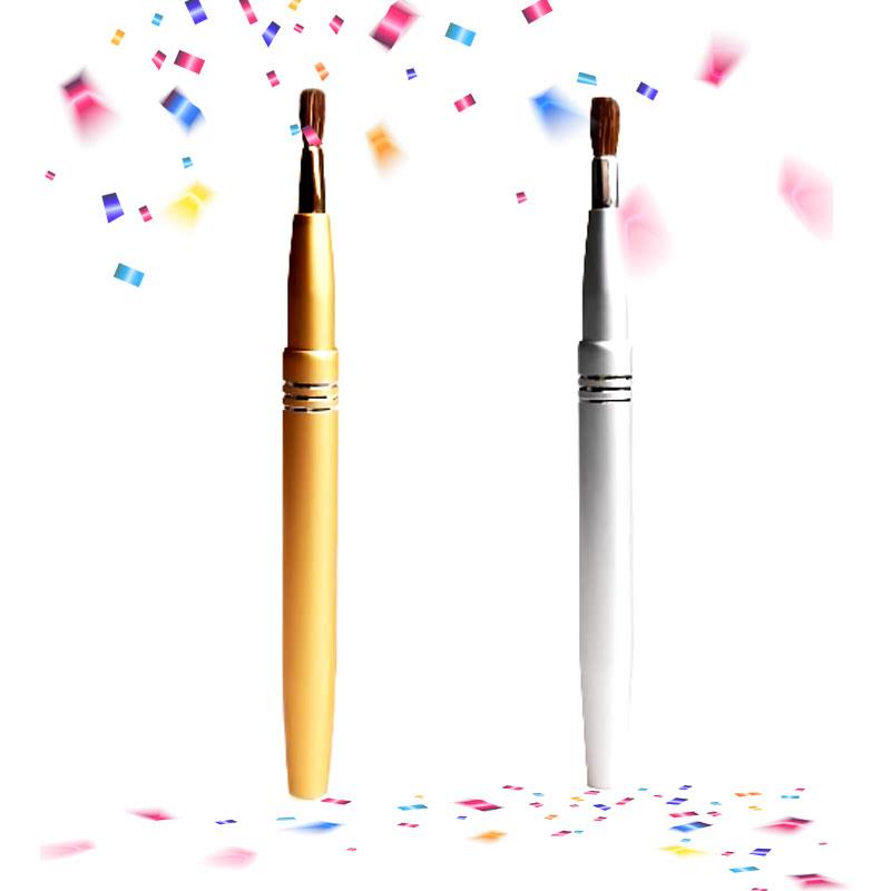Armando Caruso Retractable Gold Matte Lip Brush + Retractable Silver Matte Lip Brush