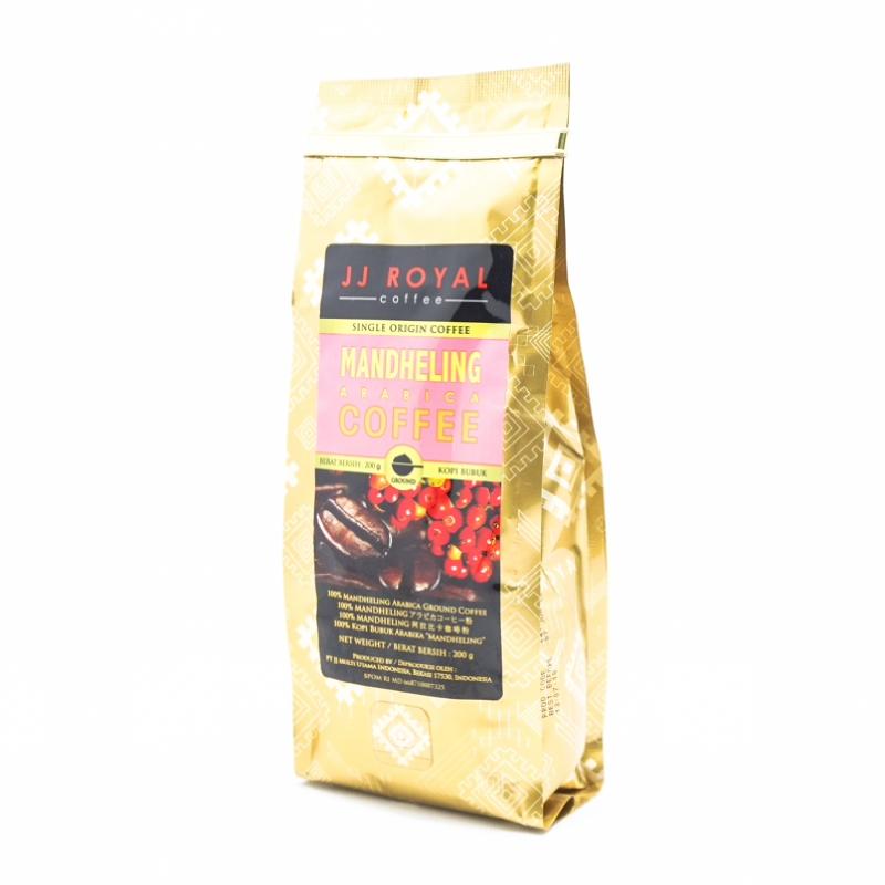 JJ Royal Ground Coffee Mandheling Arabica Bag 200 Gr