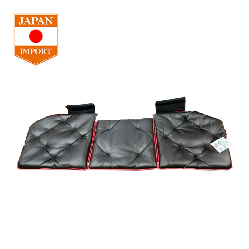 AQ Triple Cushion Soft Leather 130 Stitch Bantal Jok Mobil [Japan Import] Red