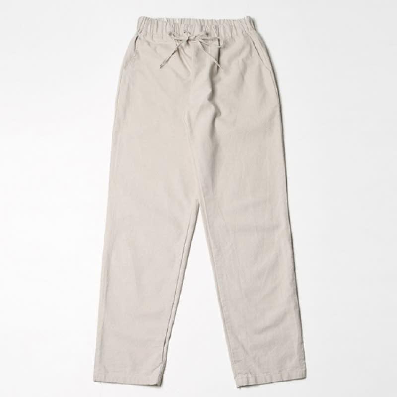 [BL2054]Vent Banding Pants - Light Beige