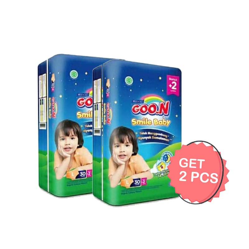 Goon Smile Popok Bayi Night Pants L 30+2S (Get 2)